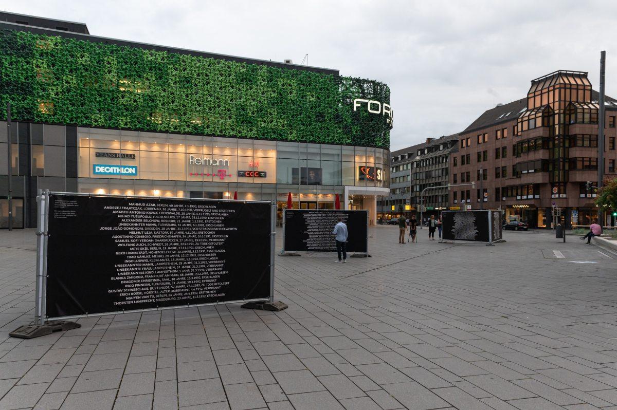 2020 Initiative Kein Vergessen Koblenz Gedenken Frank Boenisch Todesopfer rechter Gewalt