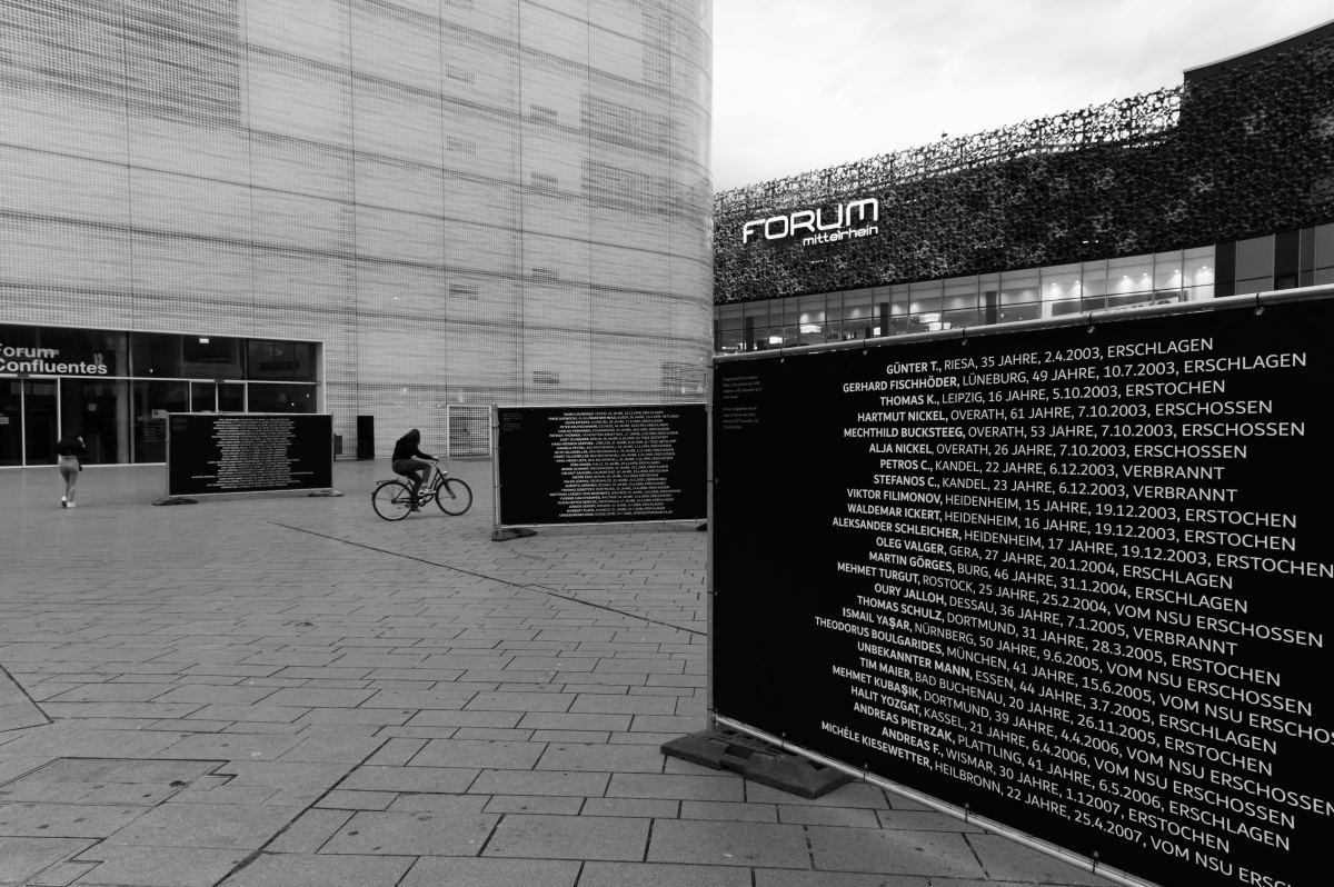 2020 Initiative Kein Vergessen Koblenz Gedenken Frank Boenisch Todesopfer rechter Gewalt Fahrrad
