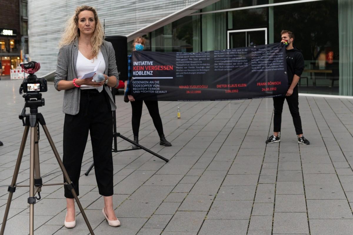 2020 Initiative Kein Vergessen Koblenz Gedenken Frank Boenisch Todesopfer rechter Gewalt Rede Laura Martin Martorell